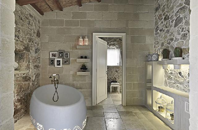 den richtigen stein für das bad, um einen eleganten, rustikalen, Hause ideen