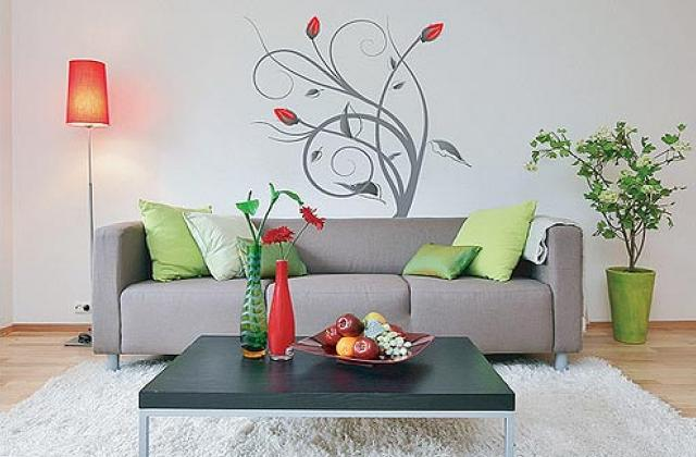Wohnideen: Schablonen um die Wände zu dekorieren