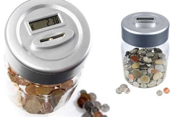 Die münzenzählende Spardose