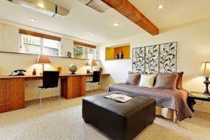 Trasformieren das Kellergeschoss in einen praktischen und funktionalen Büro