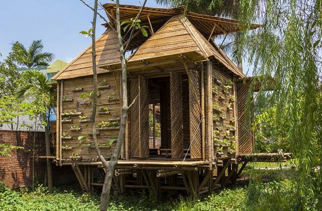 Ein Bambus-Haus in 25 Tage mit 2500 Dollar zu bauen