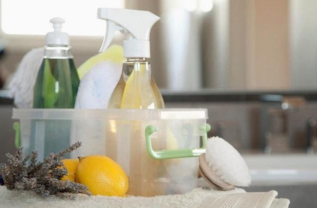 Hausgemachte Reinigungsmittel um Geld zu sparen