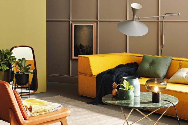 Das haus mit warmen farben einrichten gelb for Wohnzimmer einrichten farben