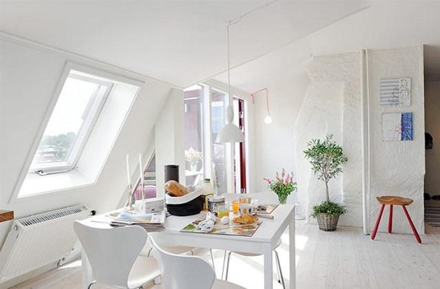 Eine Einrichtung im Total White Look