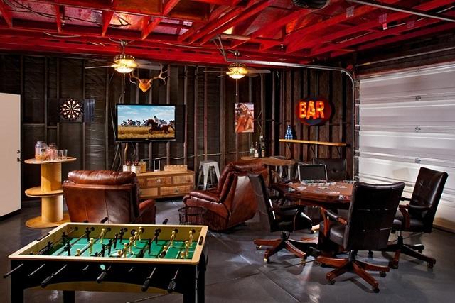 Verwandeln wir die alte Garage in einen lustigen Entspannungsbereich
