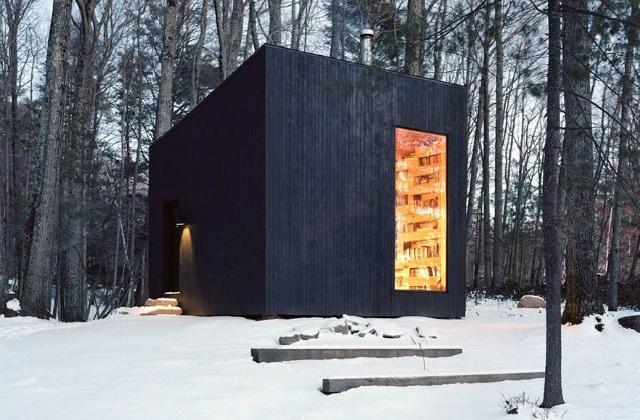 Eine Bibliothek mitten im Wald