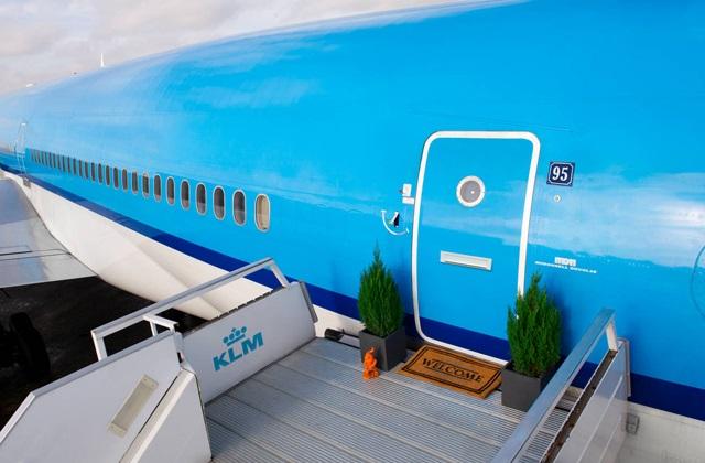 Ein ehemaliger Jet, der zum Luxushotel wurde