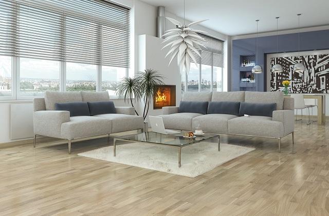 Parquette aus weißem Eichenholz für ein exklusives Design