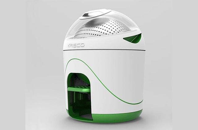Eine Waschmaschine ohne Strom, klein und kompakt