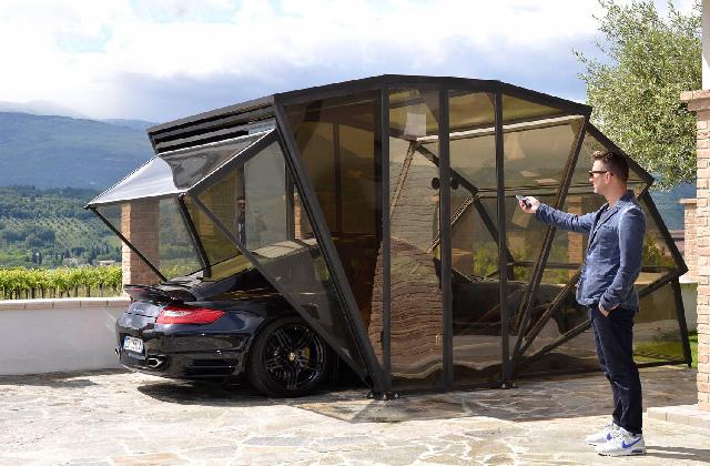 Gazebox: Die erste aufklappbare Garage, einfach unglaublich