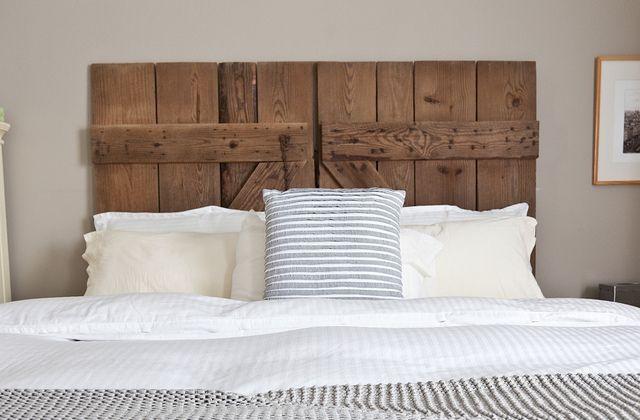 Wie man mit recycling Material Kopfteile für das Bett macht