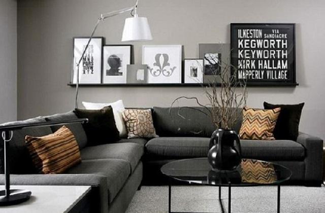 Schicke Einrichtung mit den richtigen Farben; Schwarz und Silber