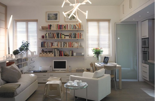 Intelligente Lösungen, um eine Einzimmerwohnung einzurichten