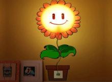 Eine Sonnenblumenlampe für Kinder
