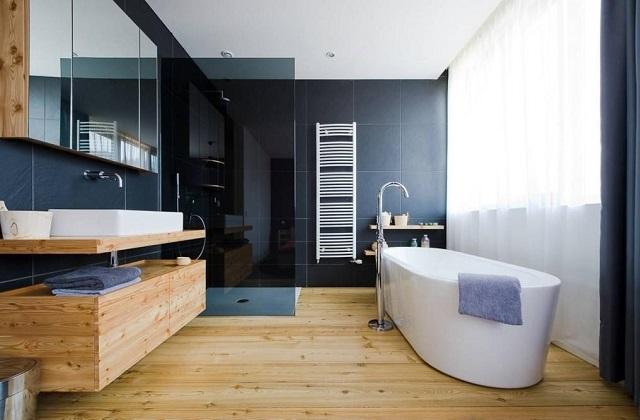 Das Badezimmer in einem Fusion Stil einrichten; essentiel und elegant