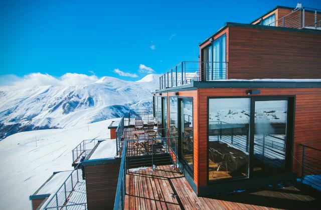 Quadrum Ski: Das Container Resort