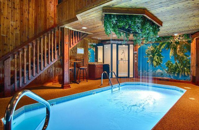 Entzuckend Dieses Foto Ist Eine Weitere Idee Für Einen Pool Im Haus, Wobei Das Zimmer  Einen Dachboden Haben Sollte.