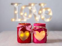 Valentinstag Deko, um eine romantische Atmosphäre zu kreieren