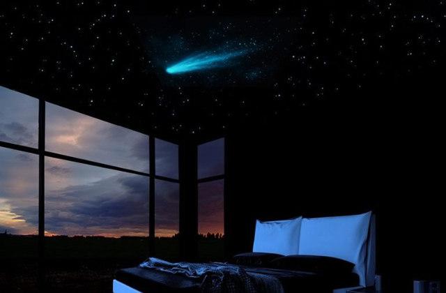 Einen Sternenhimmel (samt Komet) im Schlafzimmer
