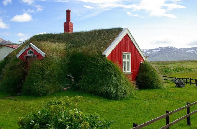 Die Turf Häuser in Island: Häuser die aus dem Boden wachsen