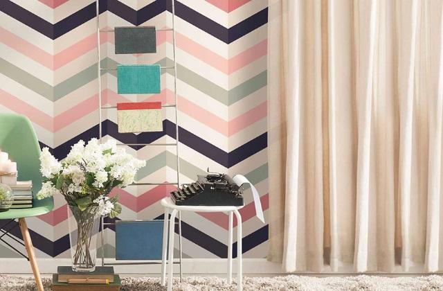 Wandtapete im Vintage Stil ist wieder in Mode