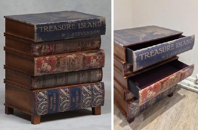 Die Buchkommode, ideal für diejenigen, die nicht ohne Bücher sein können